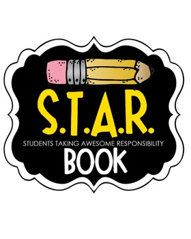 S.T.A.R. Book Clipart (yellow)