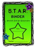 S.T.A.R. Communication Binder or Folder (Editable)