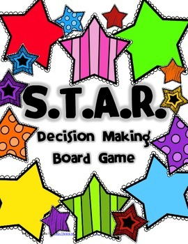 star decision making board game by a little tlc tpt. Black Bedroom Furniture Sets. Home Design Ideas