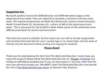 STAR Homework Policy-Editable