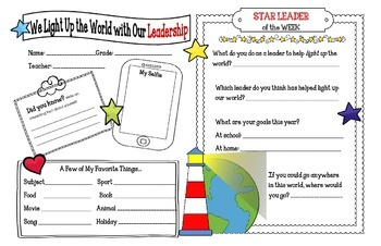 STAR LEADER of the WEEK Poster
