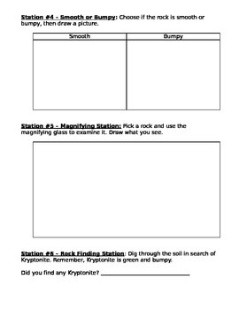 STAR Labs Rock Experiment and Exploration Worksheet