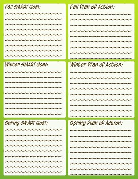 STAR Math Assessment Tracking and Goal Sheet