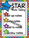 STAR Note-taking Strategy Poster