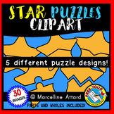 4TH OF JULY CLIP ART (STAR PUZZLES CLIPART TEMPLATES)