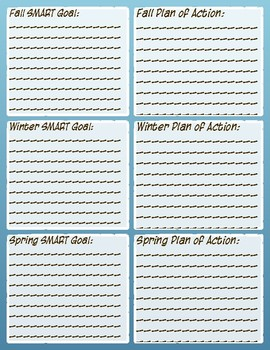 STAR Reading Assessment Tracking and Goal Sheet