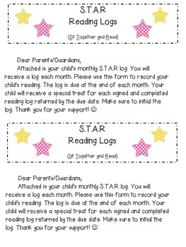 S.T.A.R Reading Logs