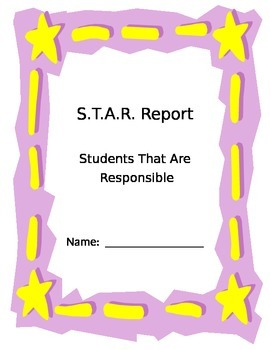 S.T.A.R. Report Cover Sheet