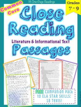 STAR Skills Close Reading Companion Passages