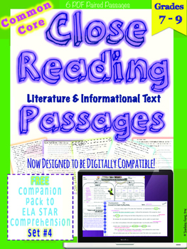 STAR Skills Close Reading Companion Passages {Set #4}