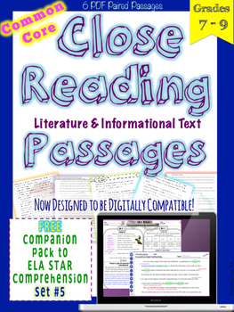 STAR Skills Close Reading Companion Passages {Set #5}