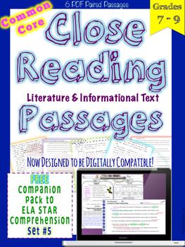 STAR Skills Close Reading Companion Passages {Set #5}