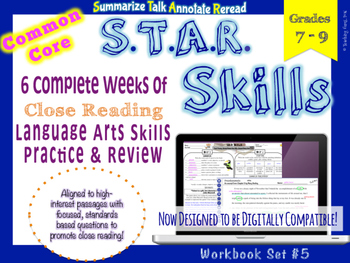 STAR Skills: Common Core Close Reading & Language Skills {Set #5}