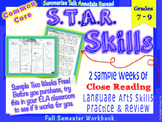 STAR Skills Sample: Common Core Close Reading & Language Skills {Middle Grades}