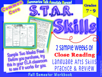 STAR Skills Sample: Common Core Close Reading & Language S