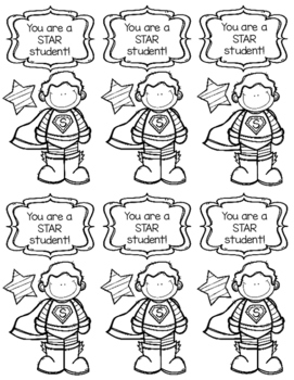 STAR Student Bookmarks to Color