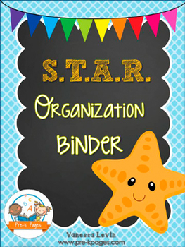 STAR Student Organization and Parent Communication Binder {personalize it}