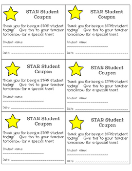 STAR Student Substitute Coupons