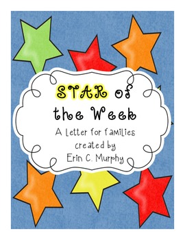STAR Student of the Week Poster Creation Letter