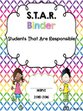 STAR (Students That Are Responsible) Binder Cover