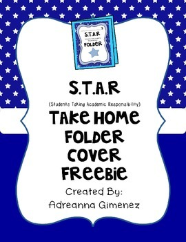 S.T.A.R Take Home Folder Cover (Editable) Freebie