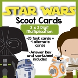 STAR WARS! 2 digit x 2 digit Multiplication Scoot Cards *Updated