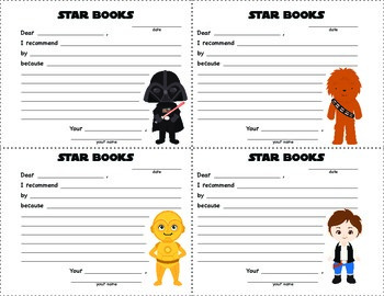 STAR WARS - Book Recommendation Forms