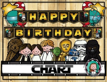 STAR WARS Classroom BIRTHDAY CHART By Preparilli Press