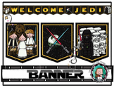STAR WARS Classroom WELCOME BANNER {Welcome JEDI or REBELS}