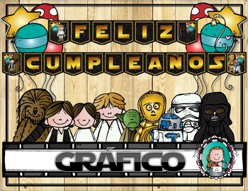 Star Wars Classroom Feliz Cumpleanos Grafico By Preparilli Press