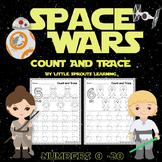 SPACE WARS Count and Trace (Numbers 1 - 20)
