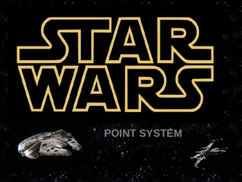 STAR WARS INDIVIDUAL POINT SYSTEM FOR ELEMENTARY STUDENTS