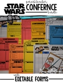 STAR WARS Parent Teacher Conference Bundle {with Editable Forms}