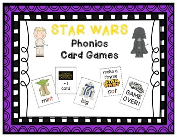 STAR WARS Phonics Game BUNDLE - CVC, Blends, Digraphs, Long Vowels & MORE!