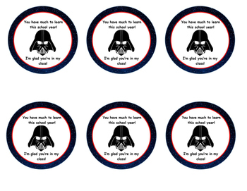 STAR WARS SNACK LABELS FOR OPEN HOUSE OR FIRST DAY OF SCHOOL