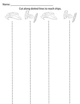 SPACE WARS Scissor Skills Pages (FREEBIE)