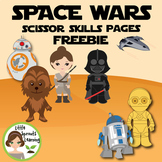 SPACE WARS Scissor Skills Pages (FREEBIE)