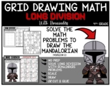 STAR WARS THE MANDALORIAN Grid Drawing Math Puzzle LONG DIVISION WITH REMAINDERS