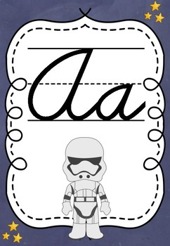 STAR WARS THEMED CURSIVE ALPHABET POSTERS