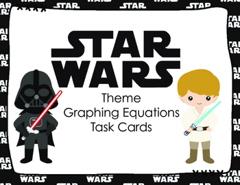 STAR WARS Theme Graphing Equations Task Cards