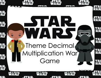 STAR WARS Theme Multiplying Decimals War Game