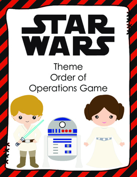 STAR WARS Theme Order of Operations Card Game
