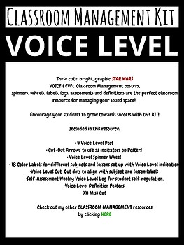 STAR WARS Theme Voice Level Classroom Management Kit and Posters