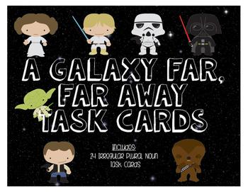 STAR WARS Themed Irregular Plural Noun Task Cards