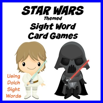 STAR WARS Themed Sight Word Card Games - Dolch Sight Words