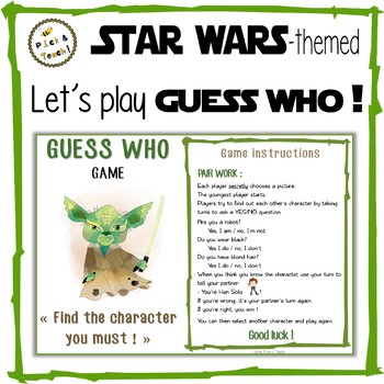 Star Wars Themed Guess Who Game By Pickn Teach Tpt