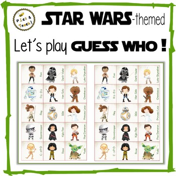 "STAR WARS - themed ""Guess Who"" - Game"