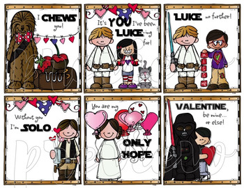 STAR WARS-themed VALENTINE'S DAY CARDS