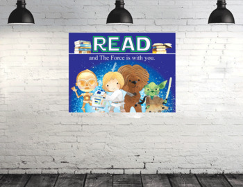STAR WARz - Classroom Decor: Poster - size 36 x 48 - READ and The Force is