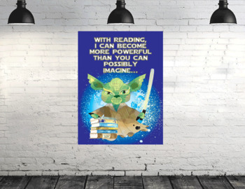 STAR WARz - Classroom Decor: Poster - size 36 x 48 - with READING I can become